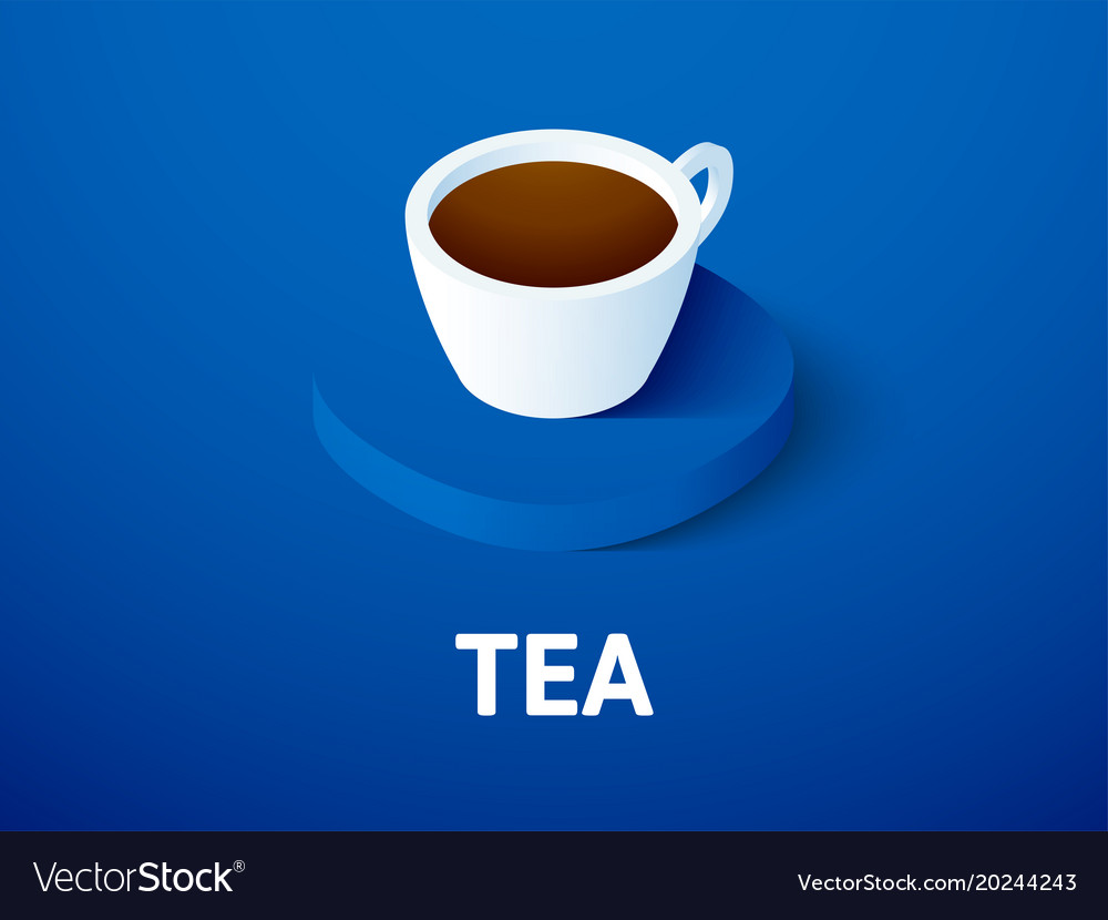 Tea isometric icon isolated on color background