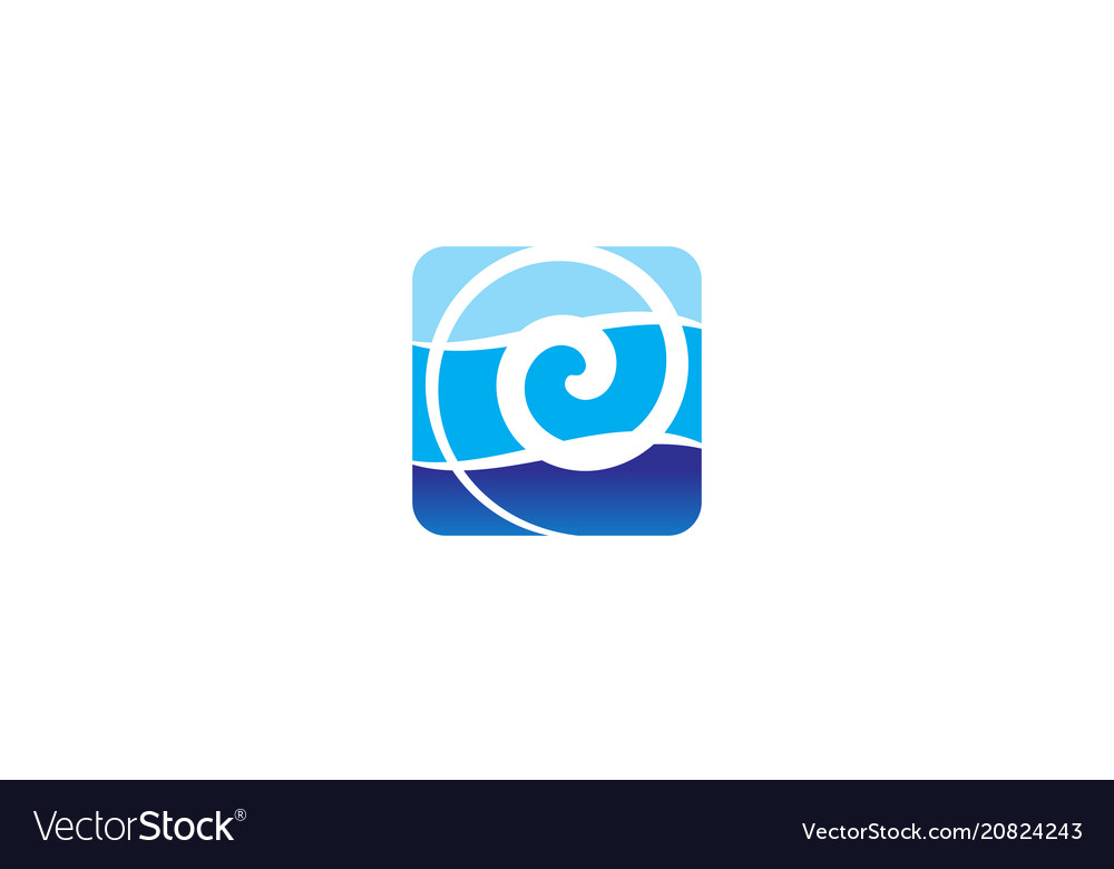 Water solution logo design template Royalty Free Vector
