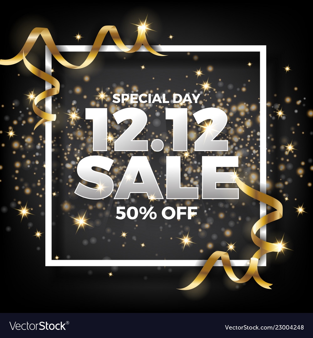 1212 shopping day sale banner background