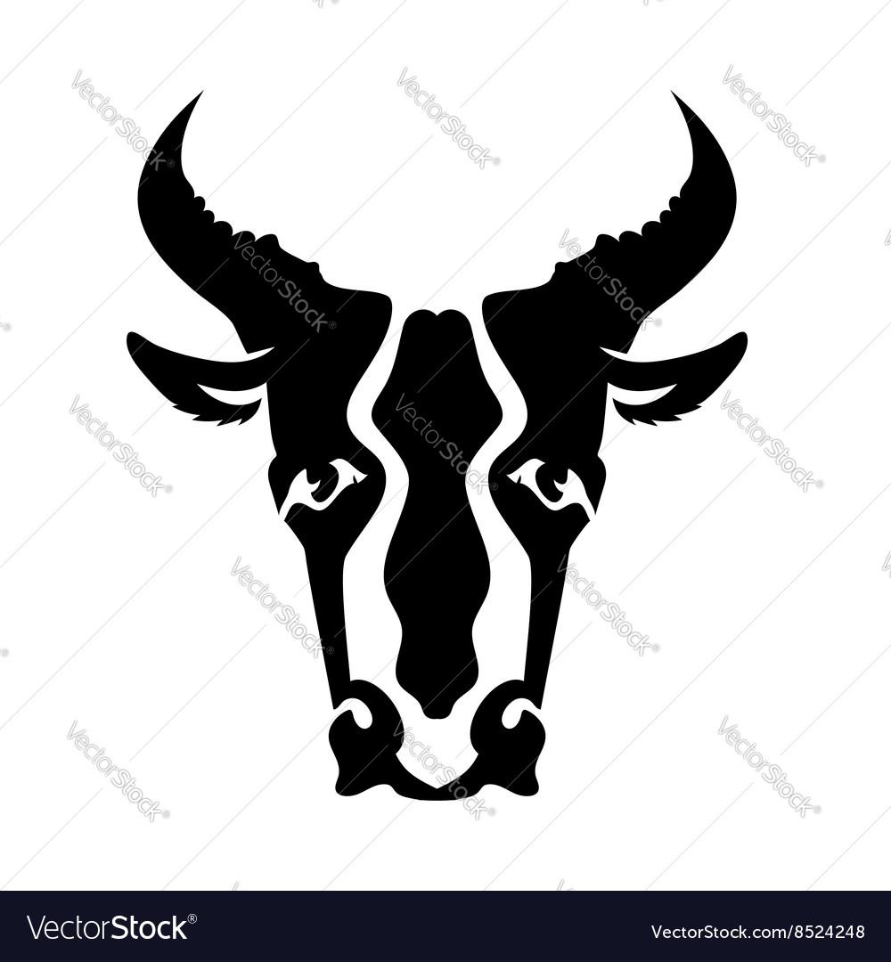 Bull Head Silhouette