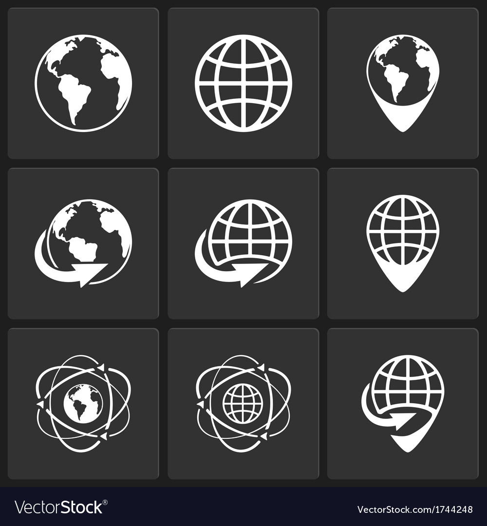 Globe earth world icons royalty free vector image globe earth world icons vector image publicscrutiny Choice Image