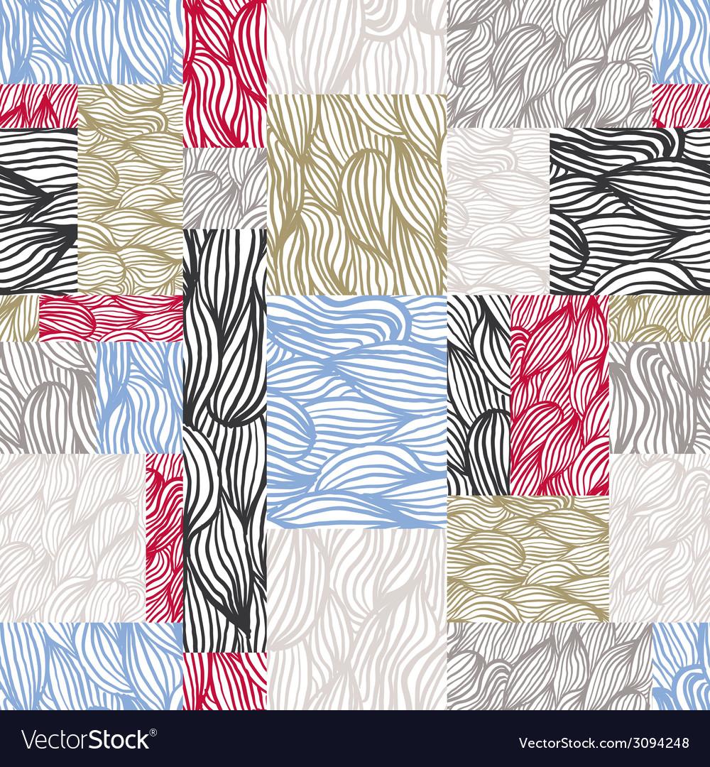 Hand drawn textures seamless pattern hand drawn