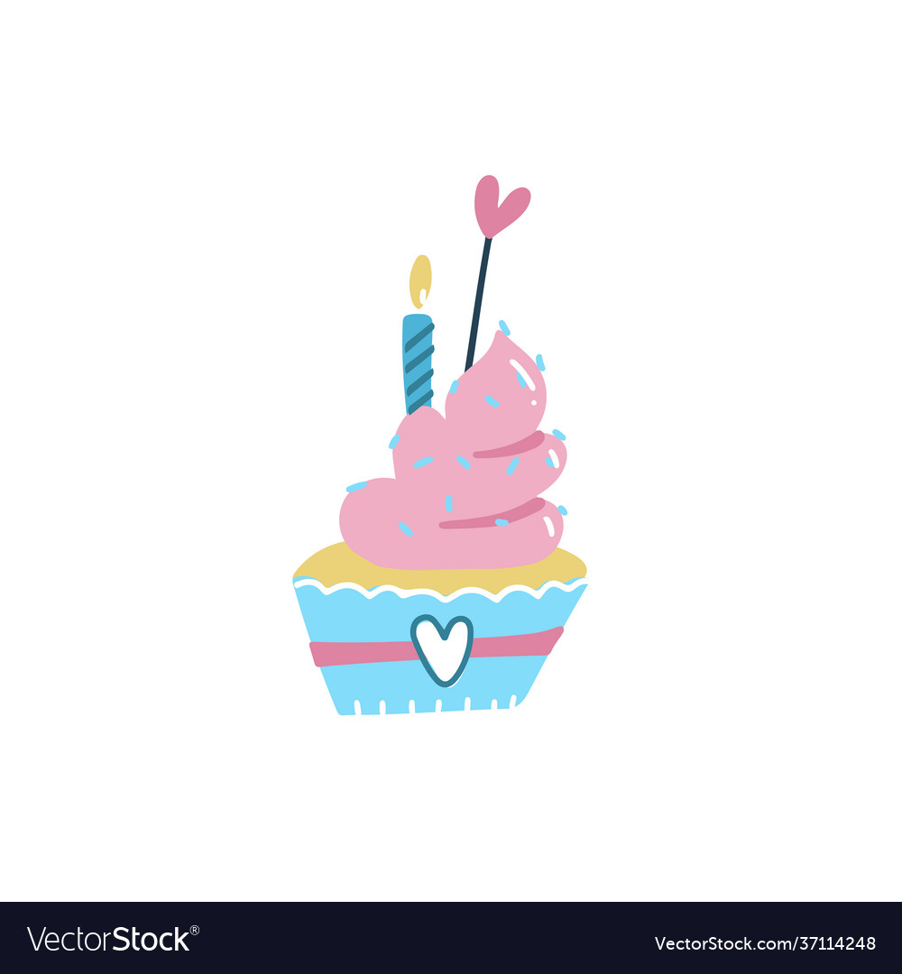 Happy birthday cake cupcake topper candles