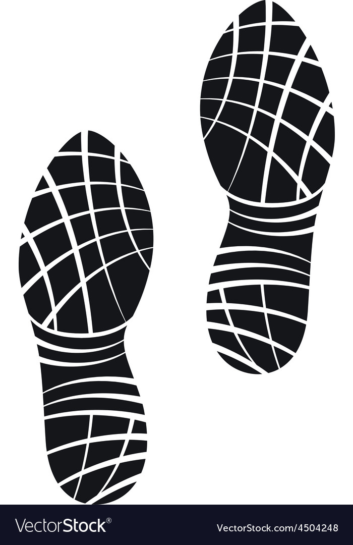 Running Shoes Foot Print