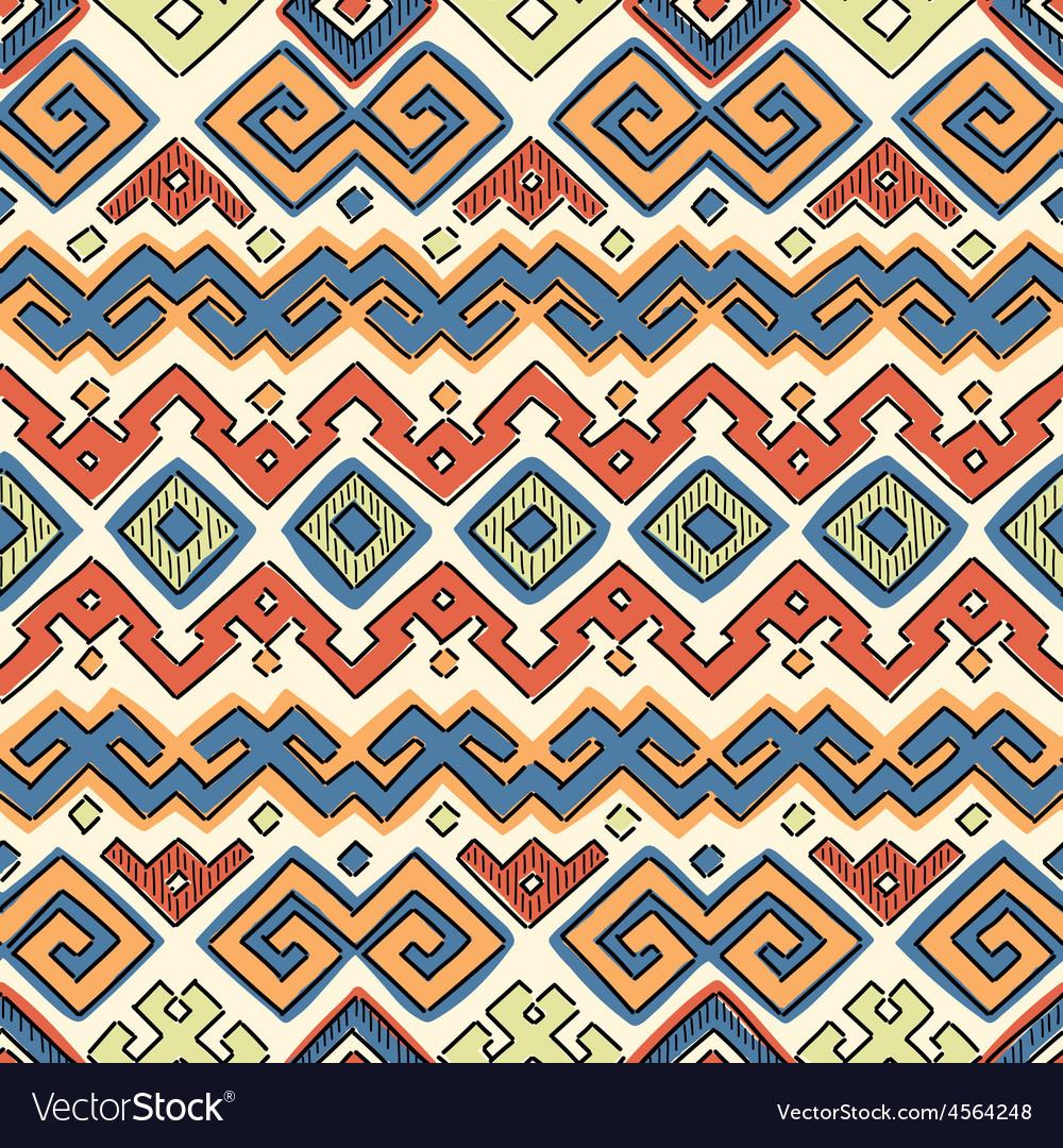 Seamless Ethnic Pattern vector image