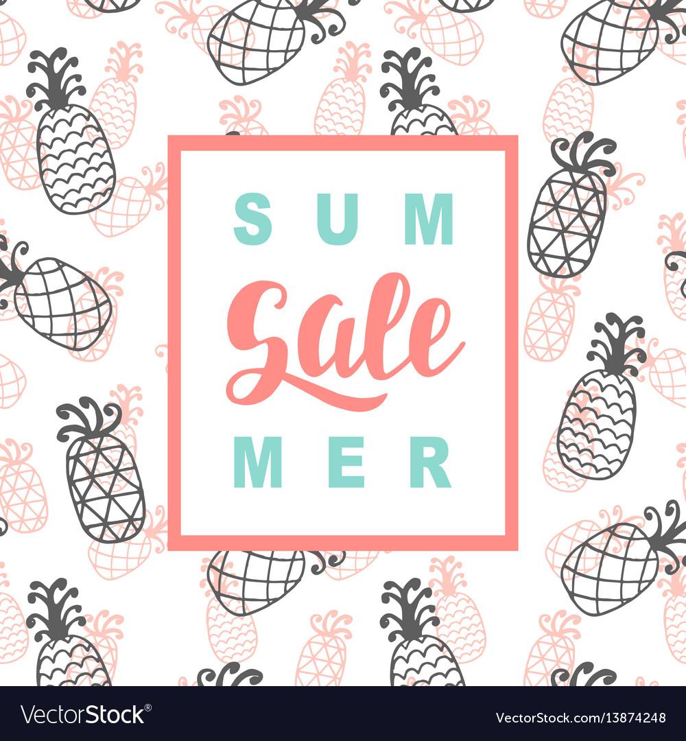 Summer sale promotional banner template