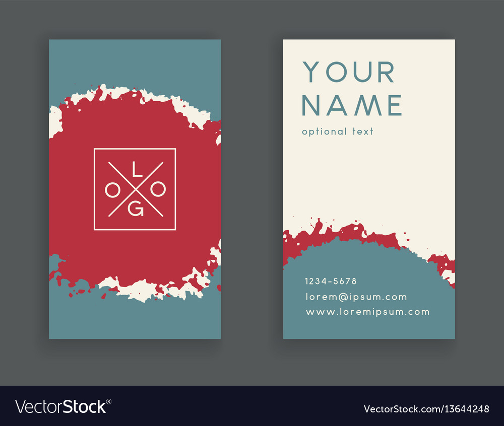 Trendy business card Royalty Free Vector Image