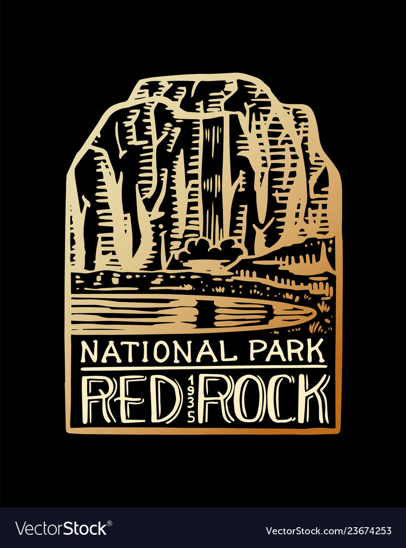Camping logo and label mountains and pine trees