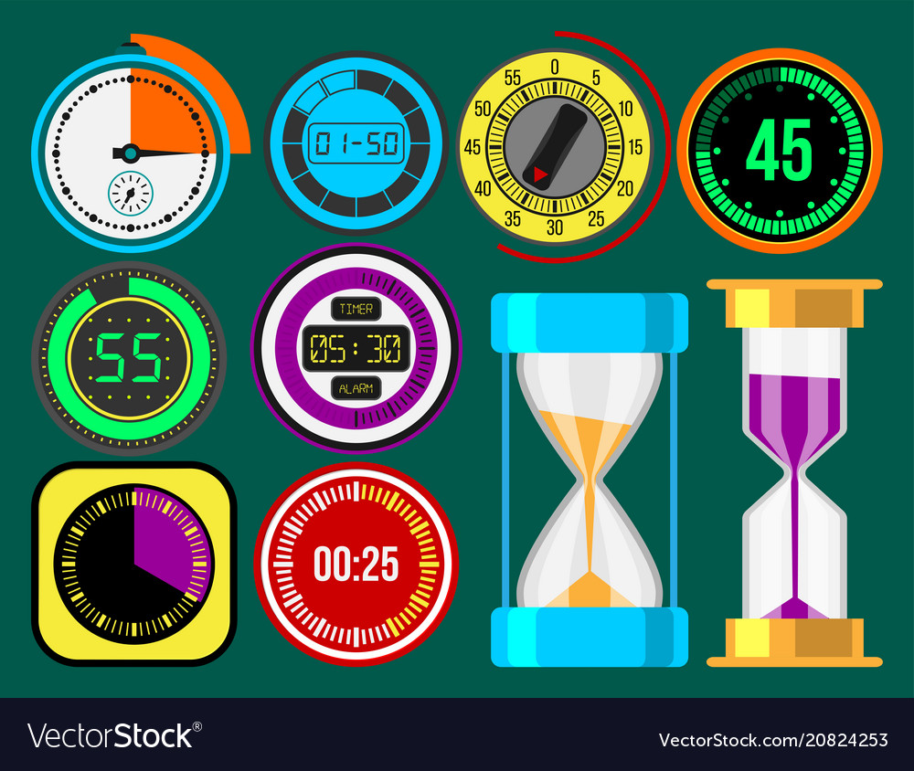 Clock watches timer colorful measurement