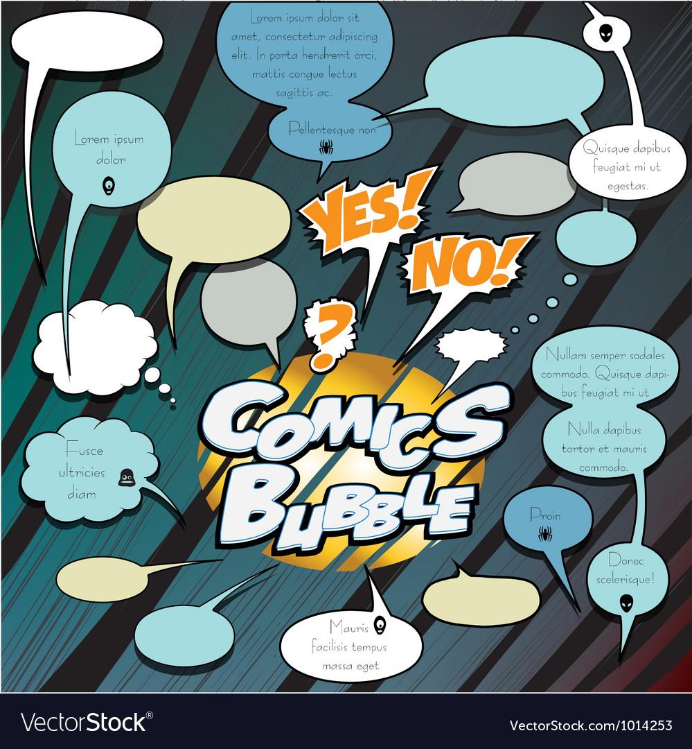 Comics bubbles dialog