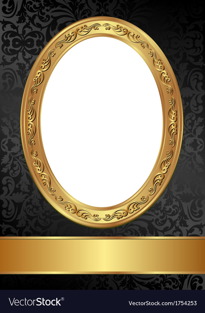 Gold Black Frame Royalty Free Vector Image Vectorstock