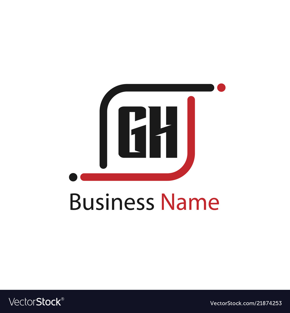 initial letter gh logo template design royalty free vector