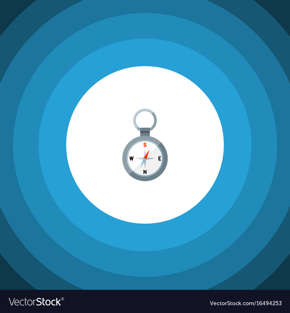 Isolated magnet navigator flat icon direction vector image