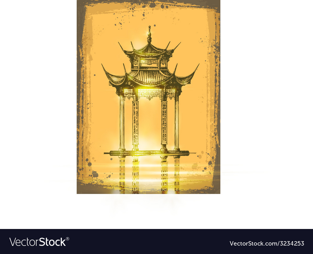 Japanese temple vector image