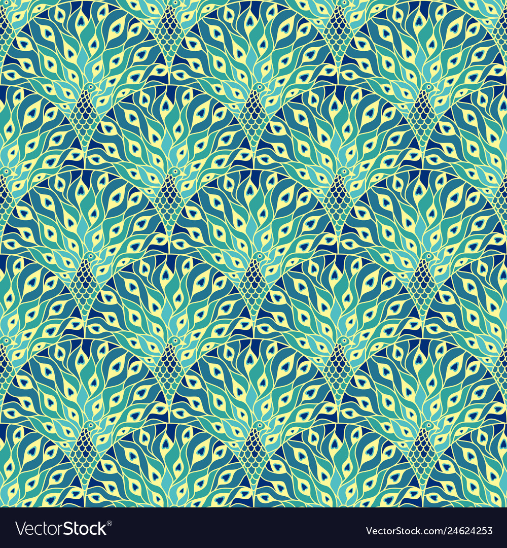 Peacock art deco