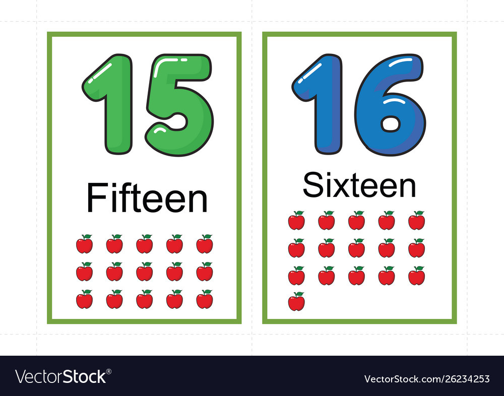 image regarding Printable Numbers Flashcards identified as Printable selection flashcards for education quantity vector picture