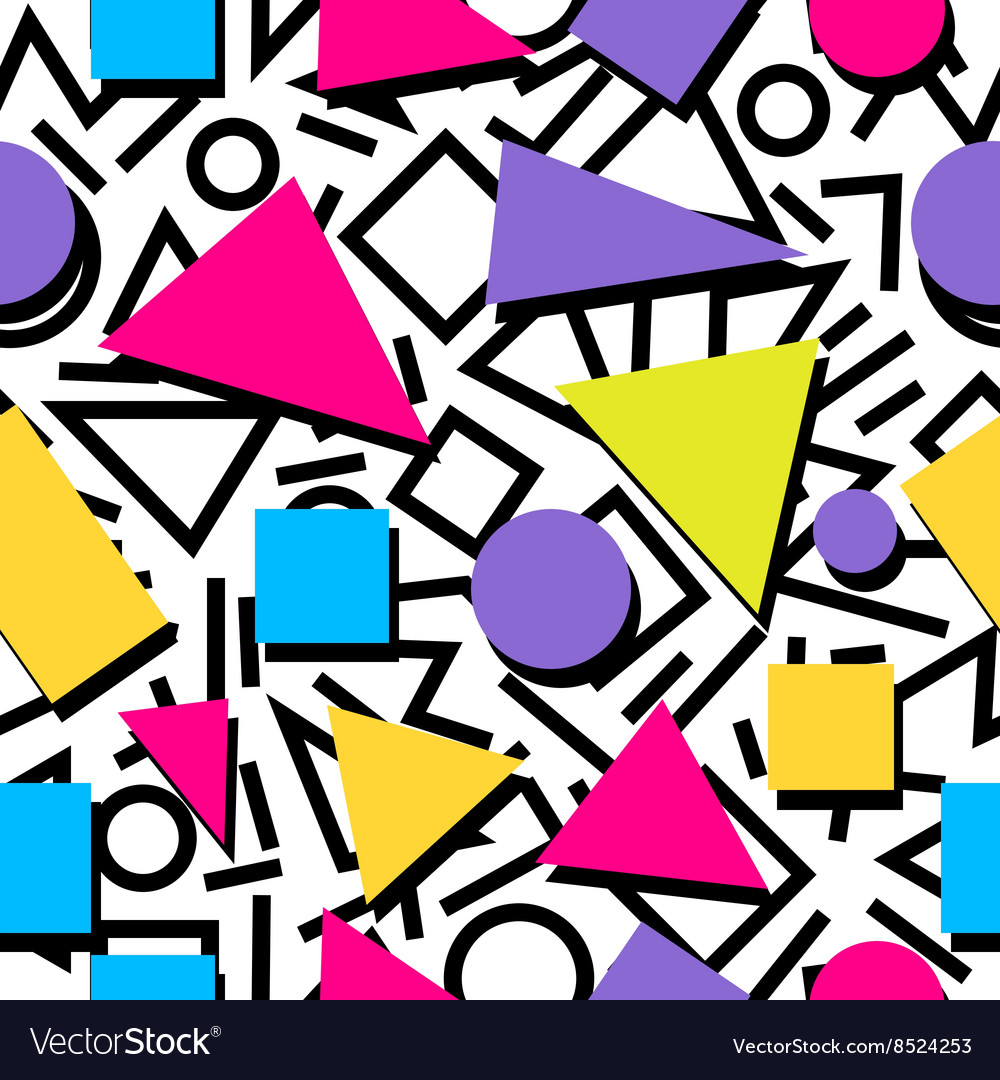 Seamless colorful abstract geometric pattern in