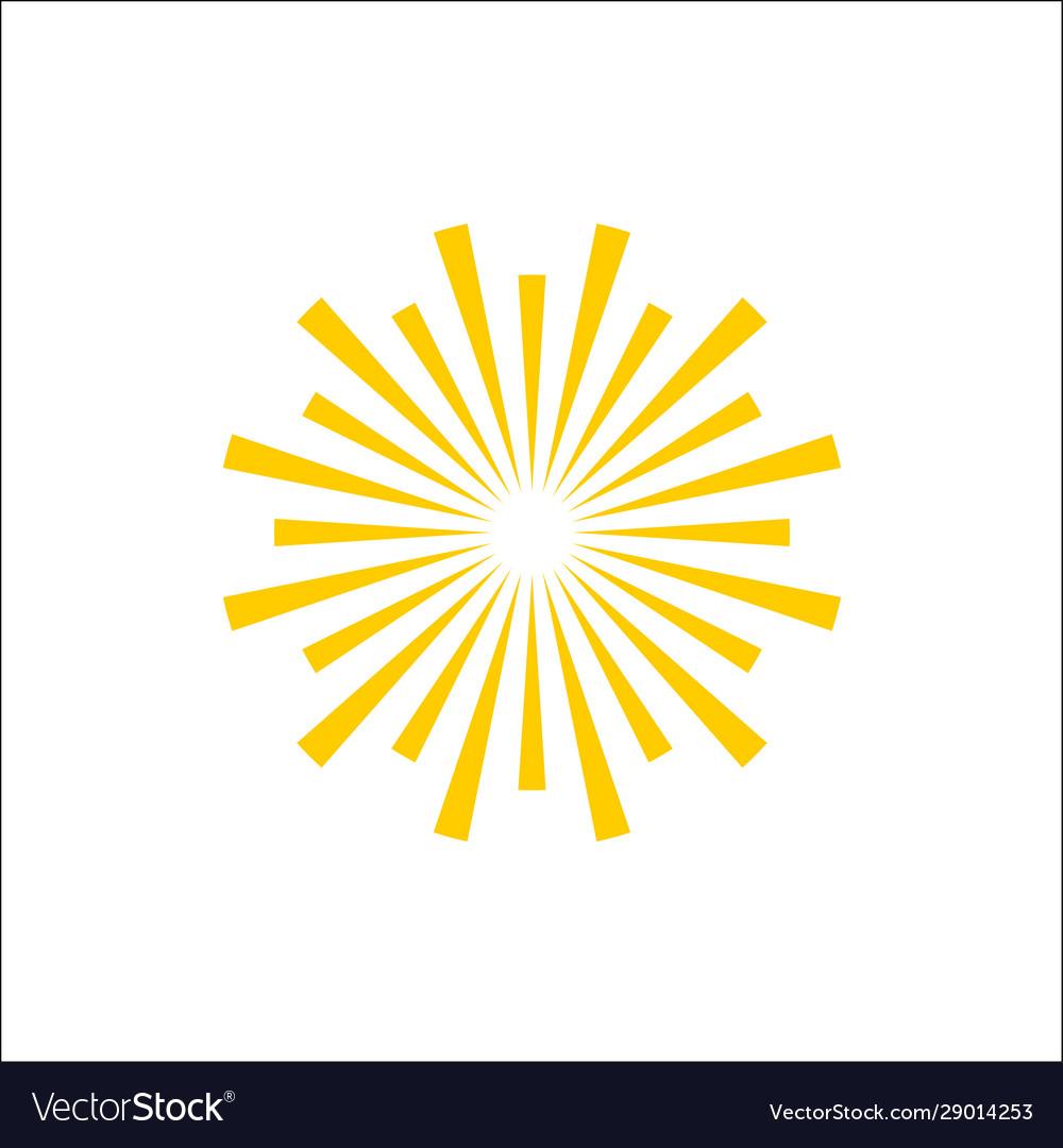 Simple line art lighting sun symbol