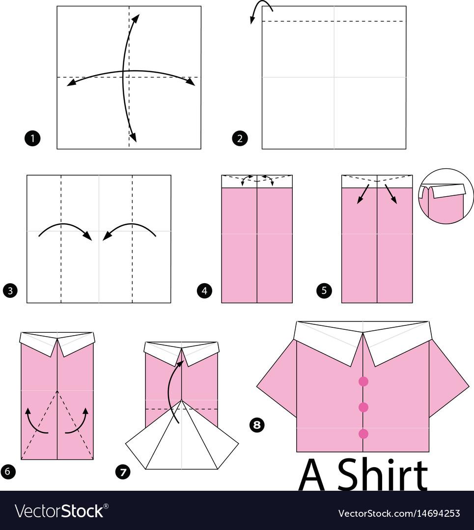 Схема изготовления открытки рубашки