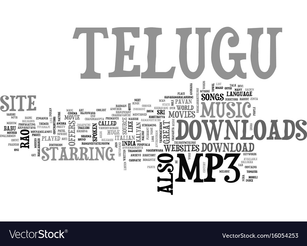 telugu mp download text background word cloud vector image
