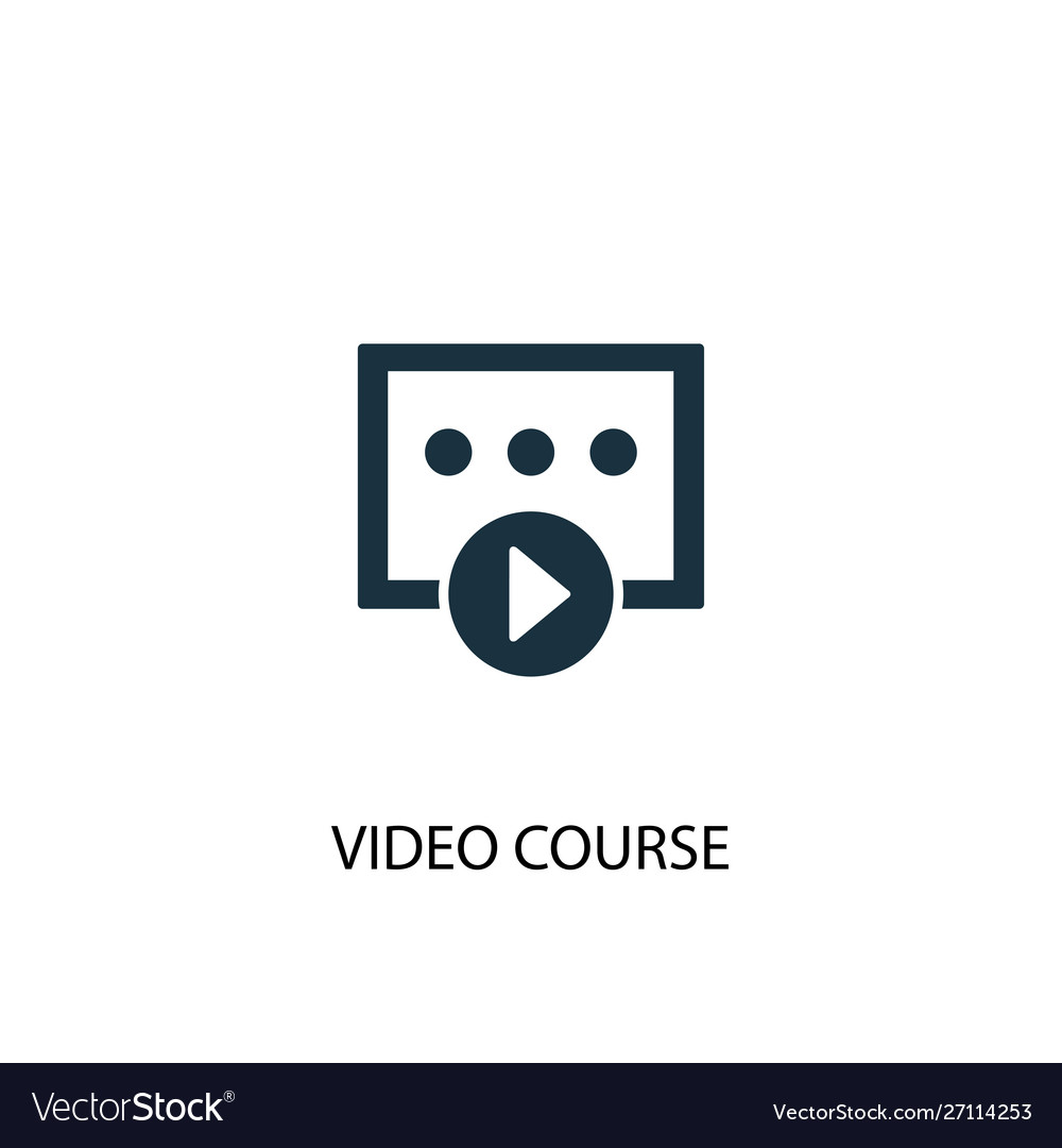 Video course icon simple element