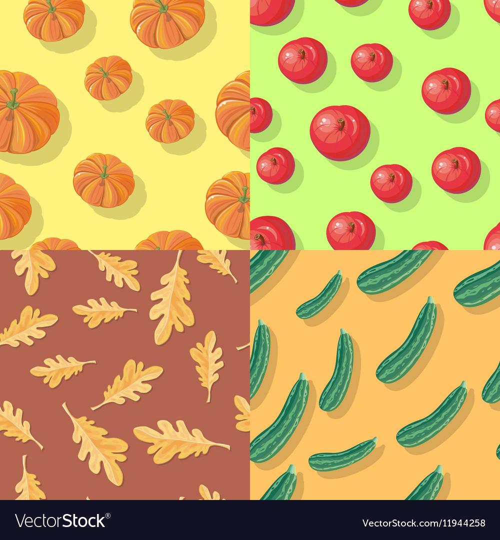 Autumn Seamless Patterns Fall Endless Textures