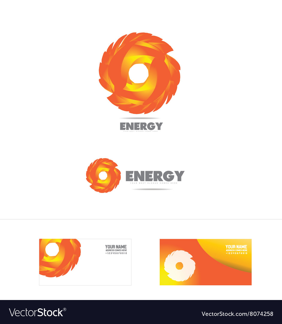 Energy company logo icon vector image