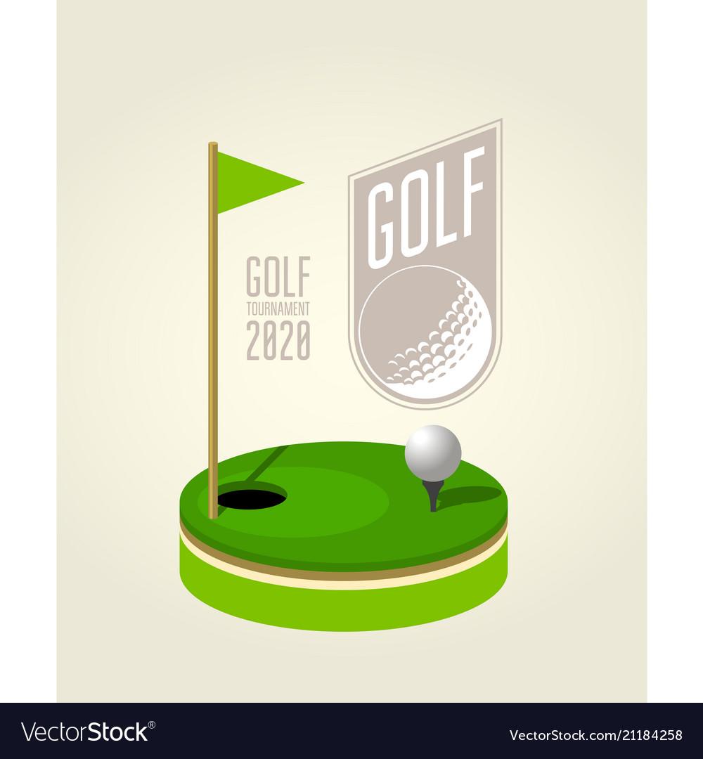 Golf tournament poster design template - golf