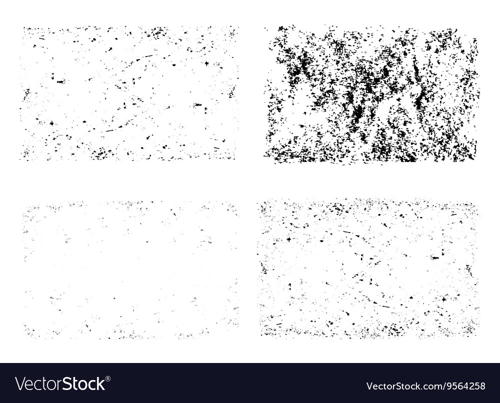 Grunge textures unique set template vector image
