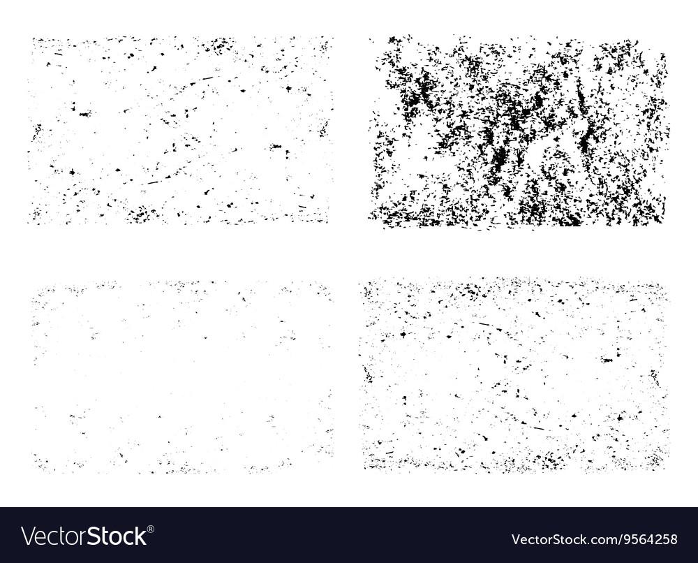 Grunge textures unique set template vector image