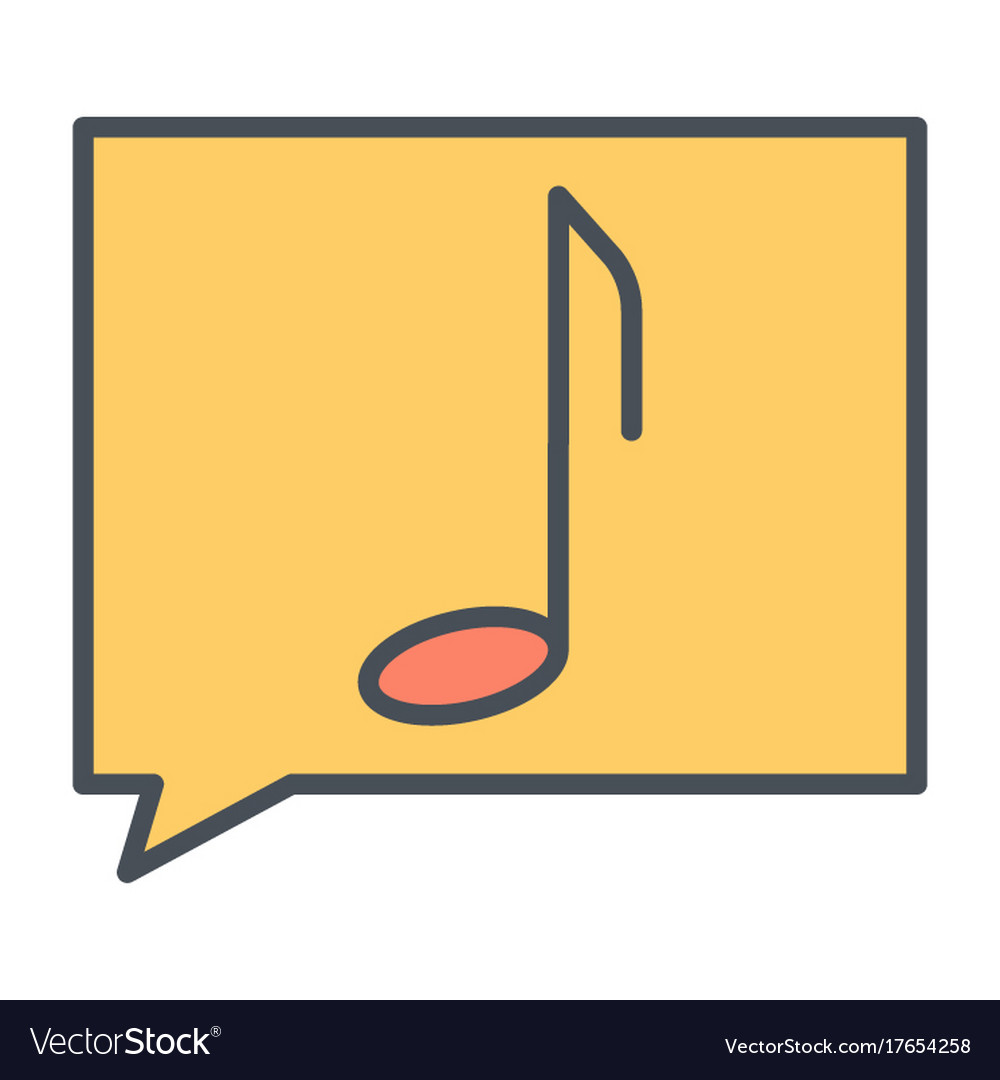 Music note thin line icon pictogram