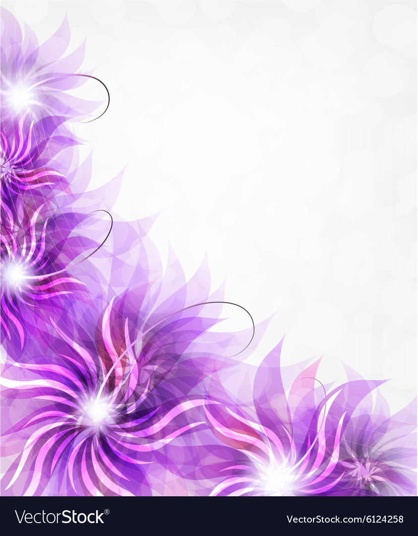 Purple Flowers Background Royalty Free Vector Image