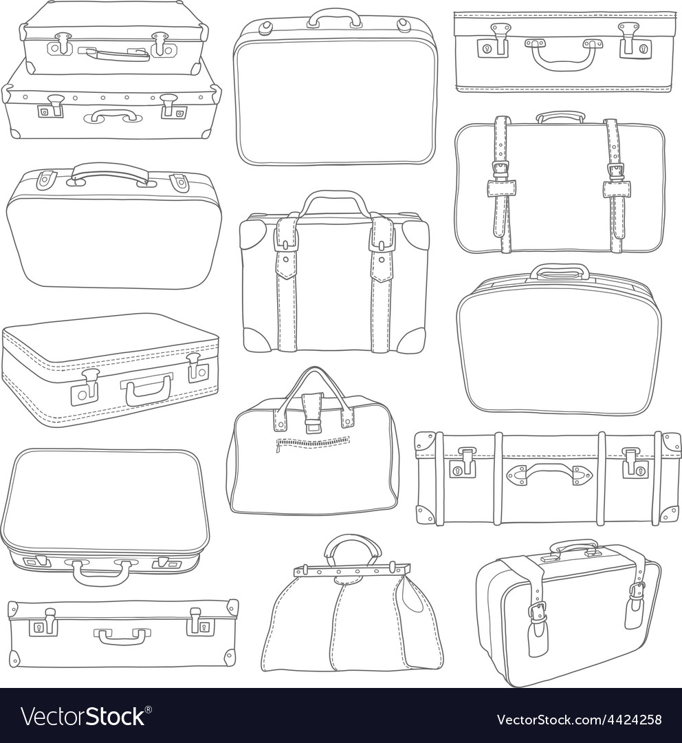 Set of Vintage Suitcases - for design in