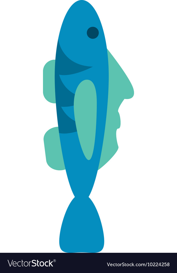 Single fish icon vector image