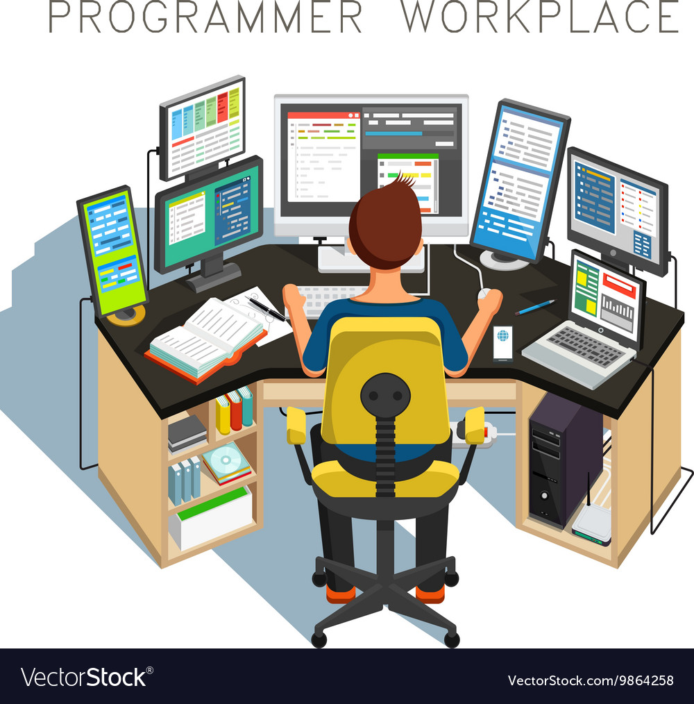 The programmer writes code