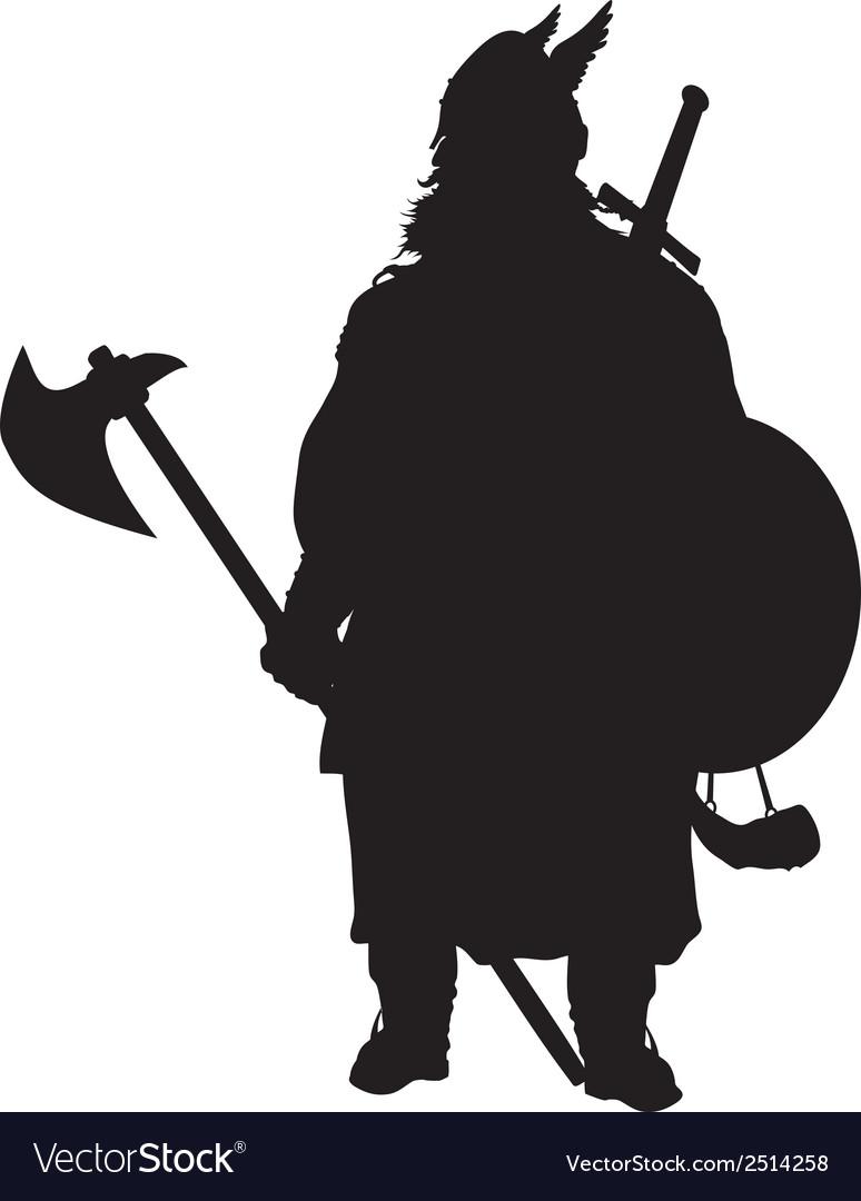 Viking silhouette warriors theme