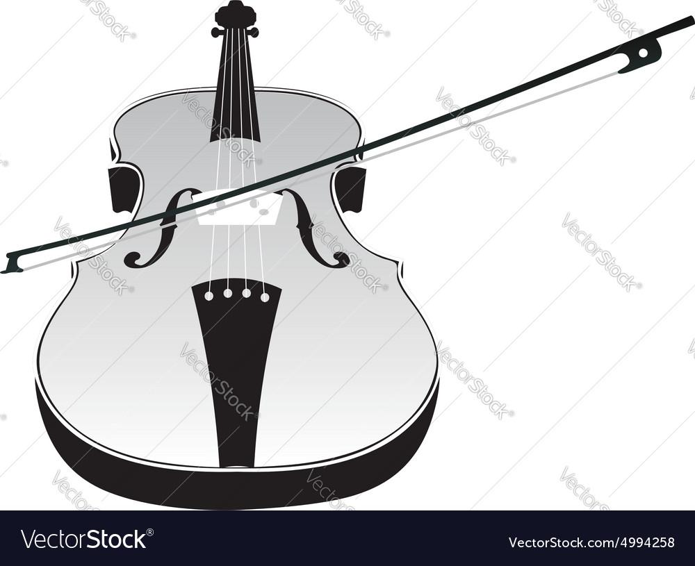 Violin Silhouette2 vector image