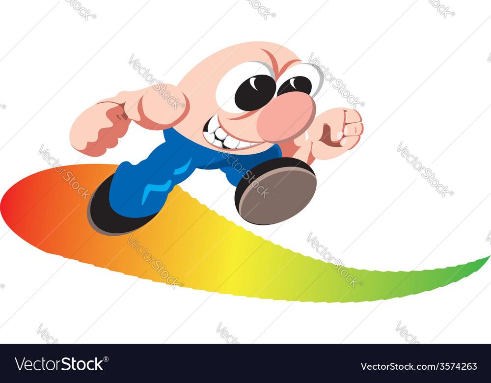Cartoon sportsmen vector image