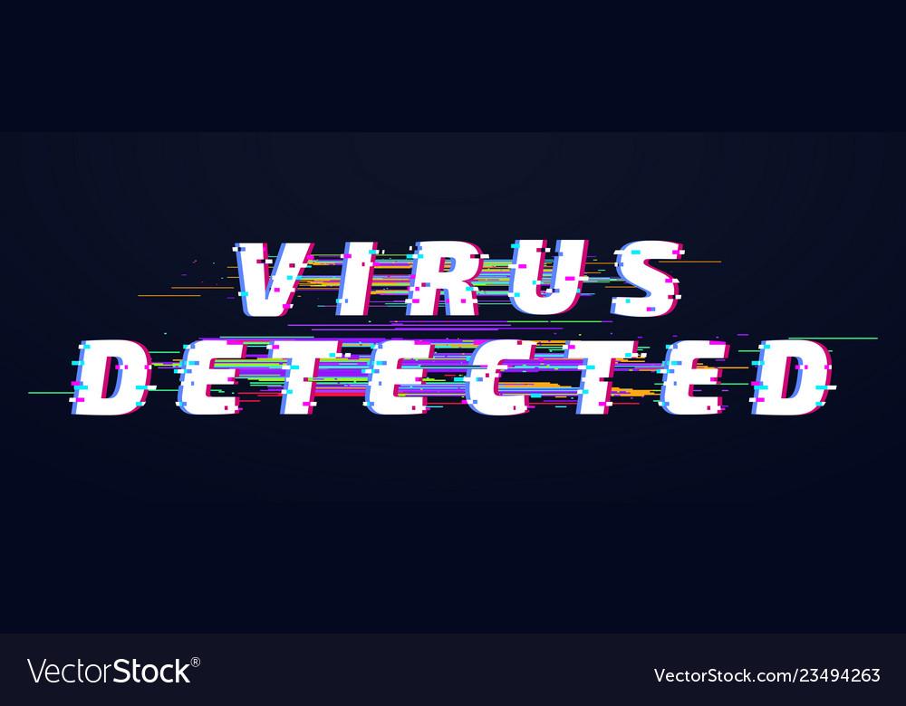Glitch fontglitch font virus detected glitched