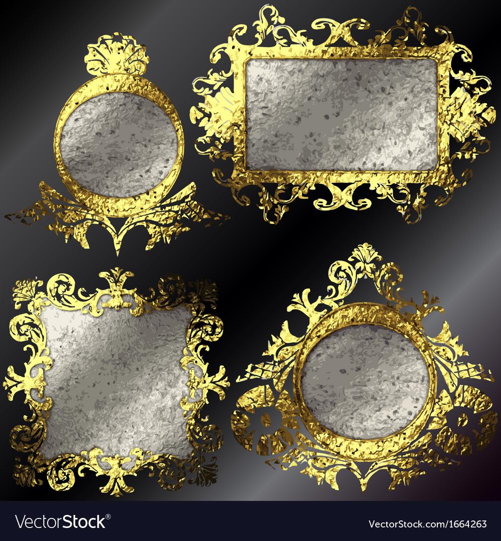 Golden frames set