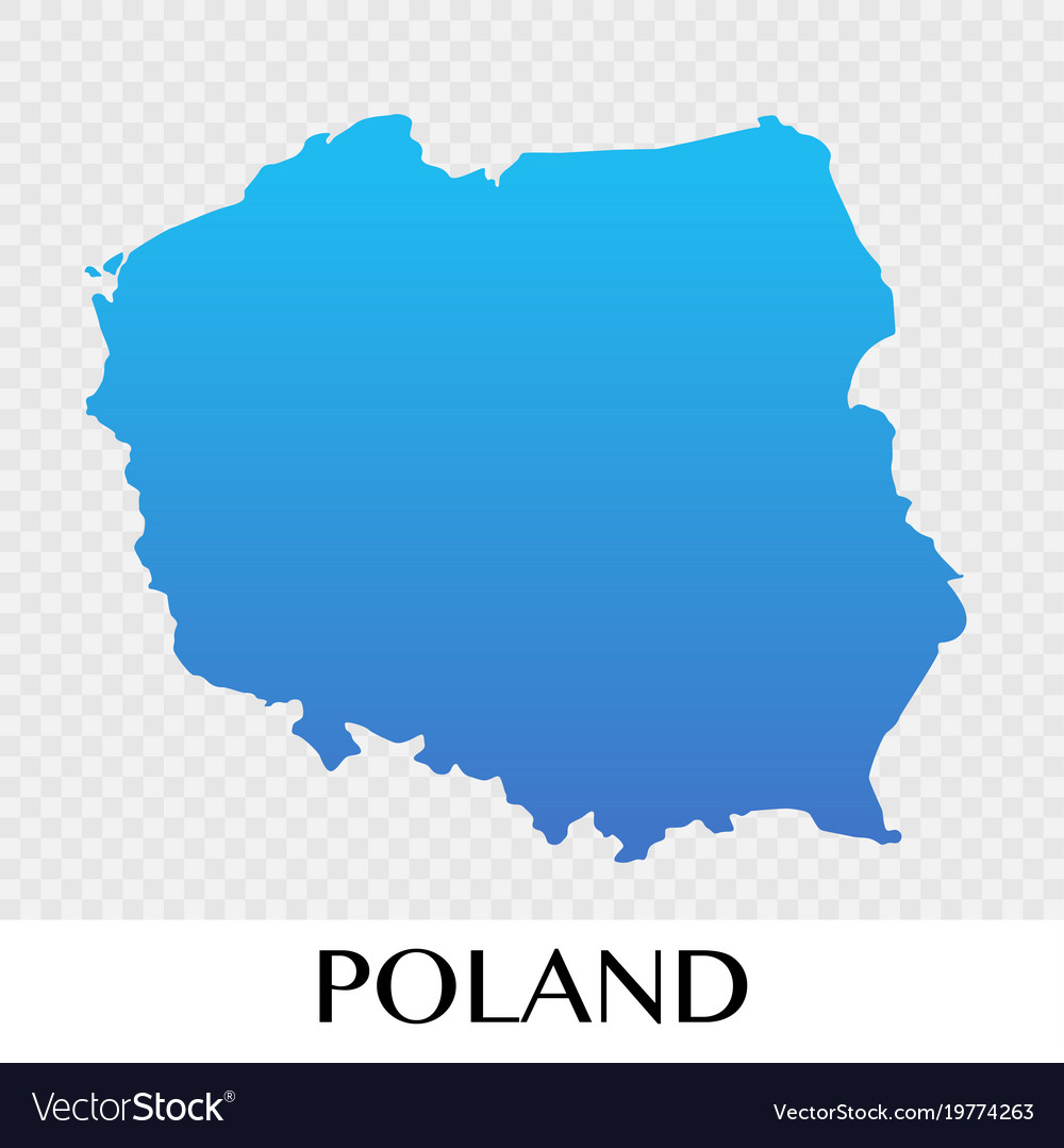 Poland map in europe continent design Royalty Free Vector