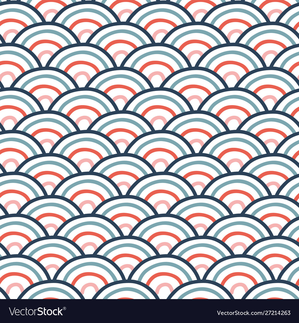 Seamless wavy doodle pattern with