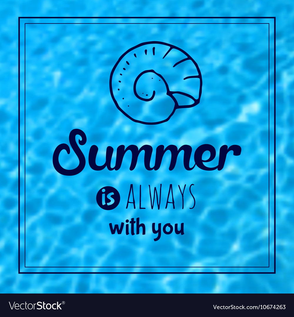 Summer text typography vintage poster