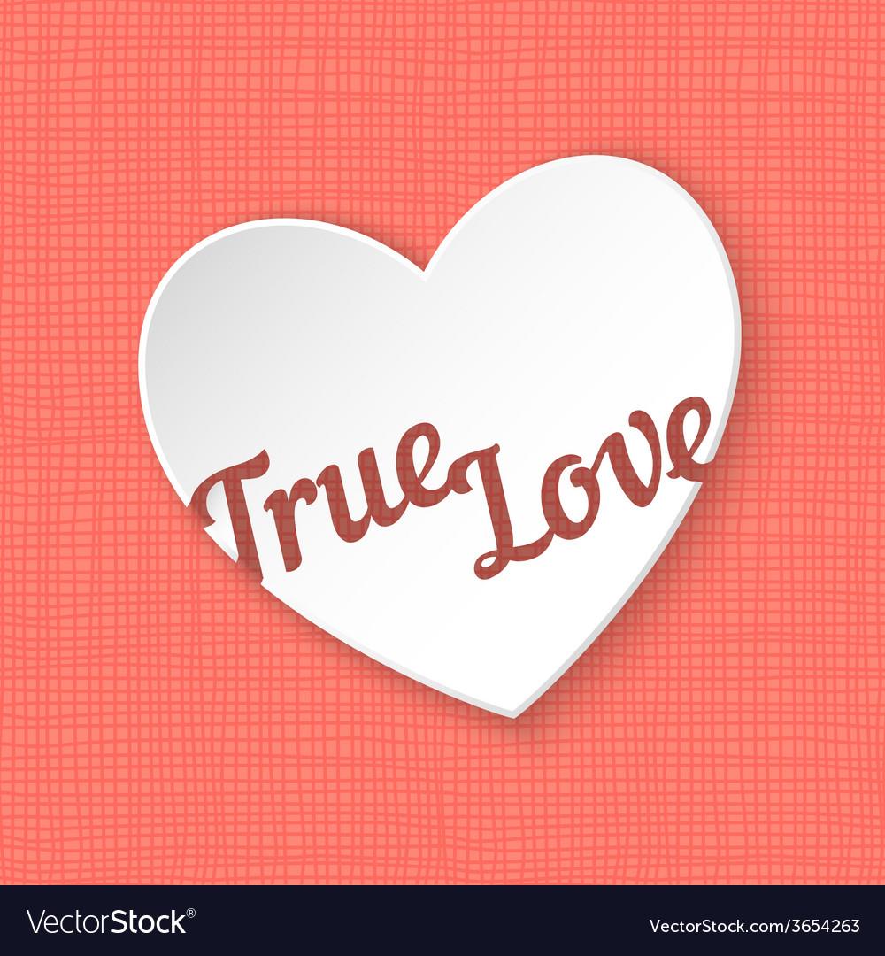 True love of 3d paper heart eps 10