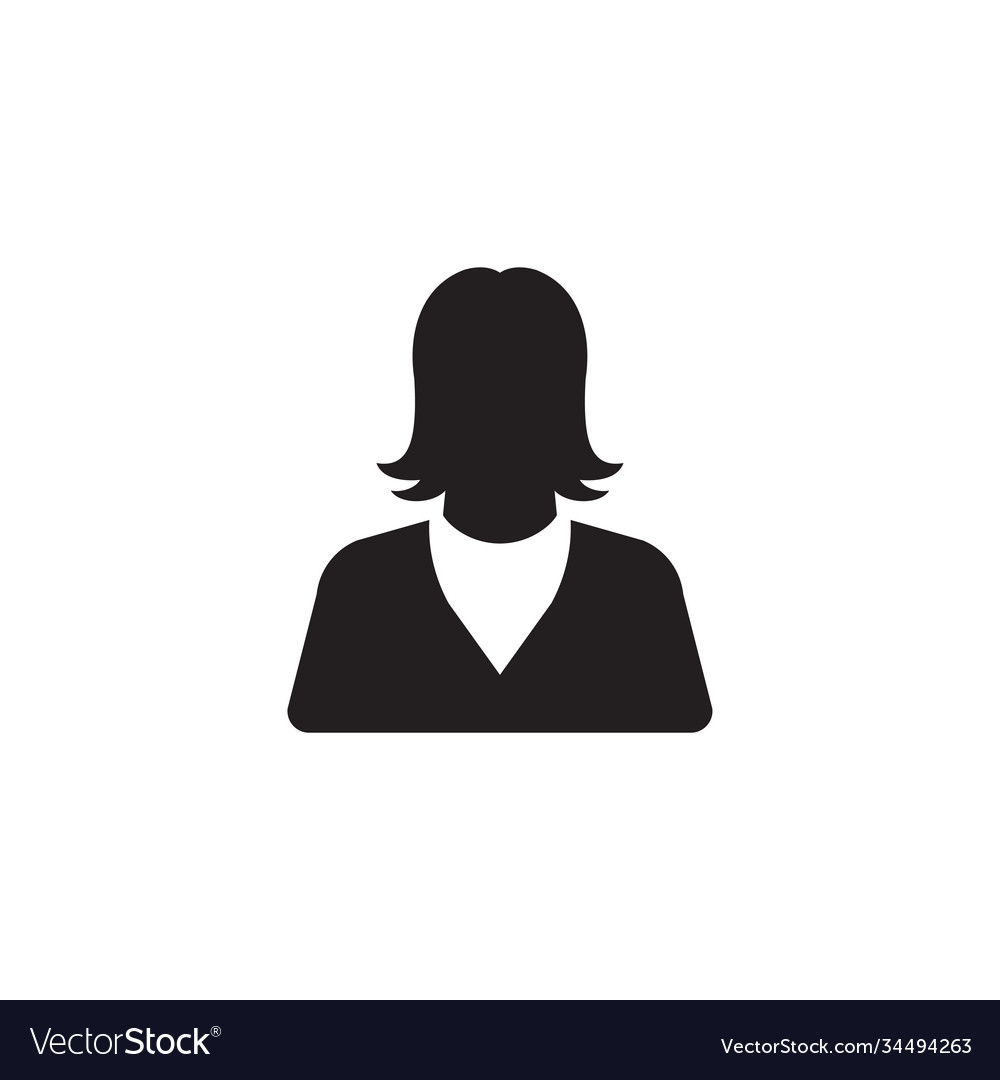 Woman icon design template isolated