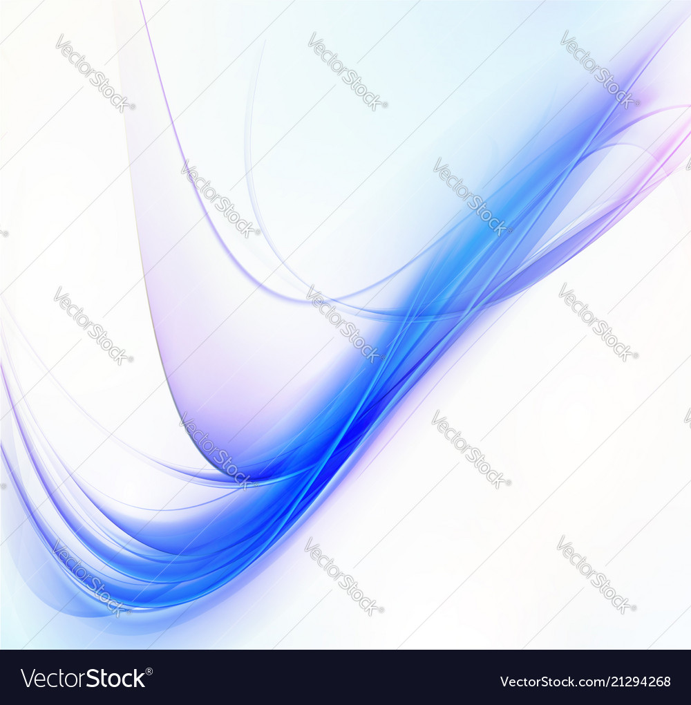 Abstract background blue transparent waved lines