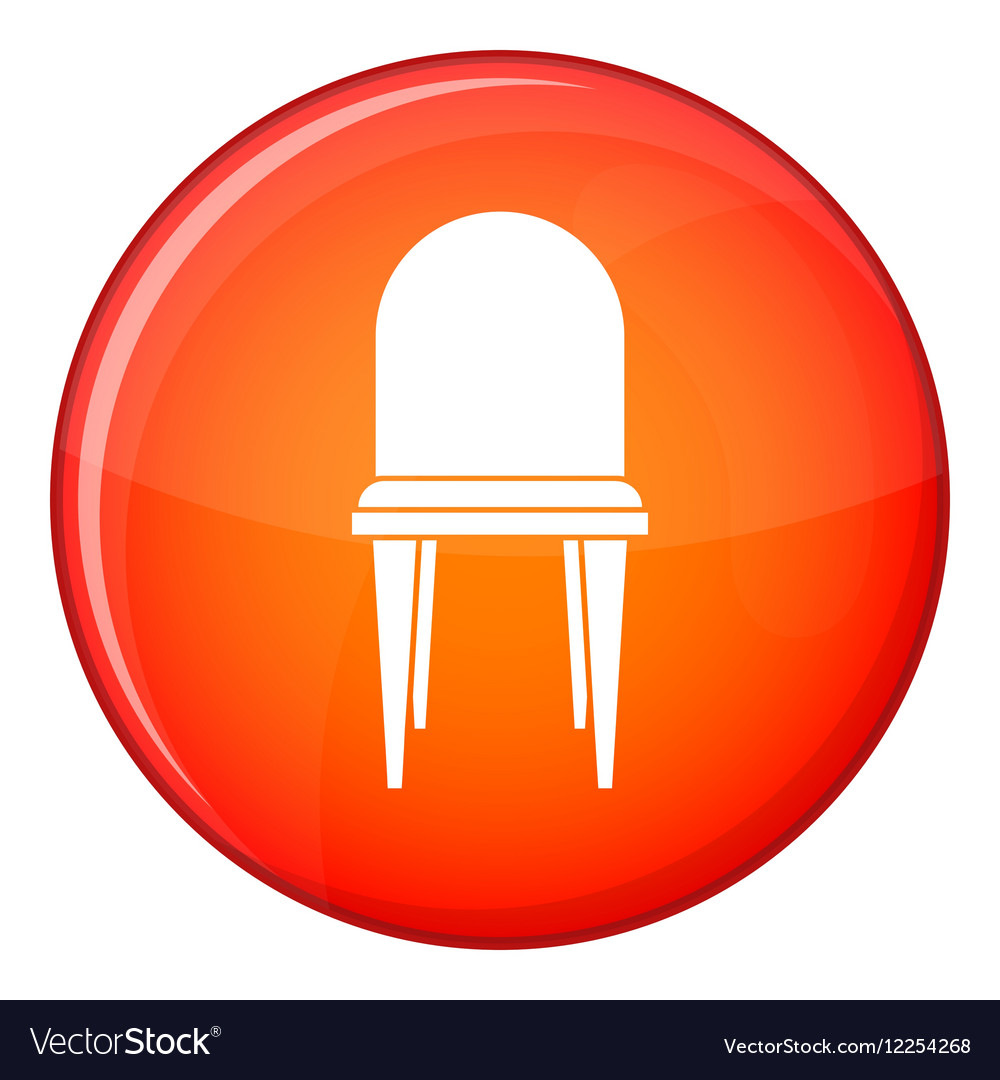 Chair icon flat style