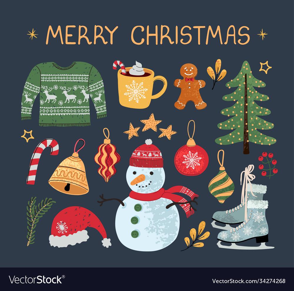 Christmas modern set stickers