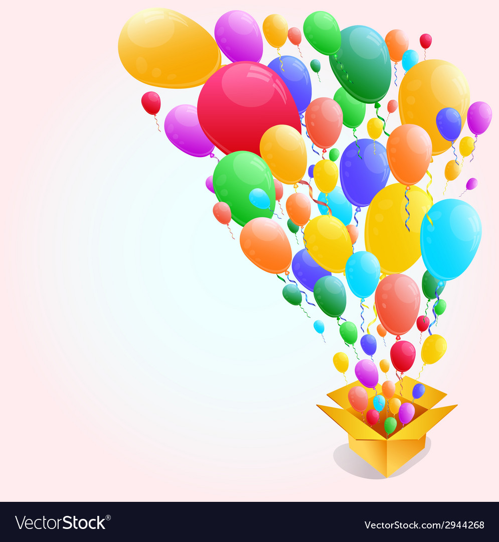 Colorful Balloon Abstract Background
