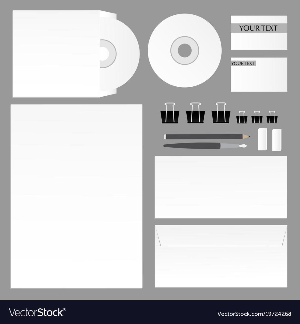 Corporate Branding Mockup Template Vector Image